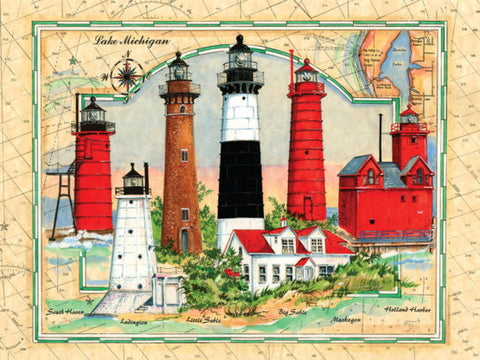 500 Piece Puzzle - Lighthouses of Michigan
