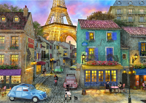 1000 Piece Puzzle - Eiffel Magic