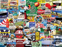 1000 Piece Puzzle - I Love Michigan