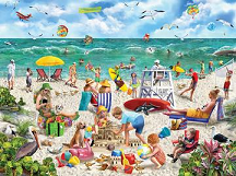 1000 Piece Puzzle - Beach Day