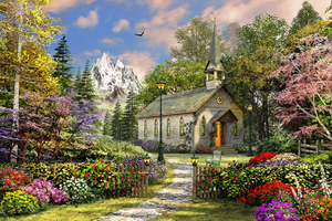 500 Piece Puzzle - Mountain View Chapel