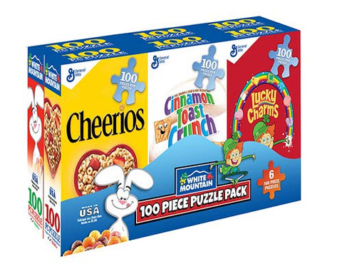 100 Piece Puzzle - Mini Cereal Boxes - 6 Pack