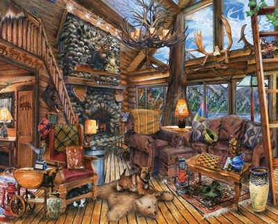 1000 Piece Puzzle - Hunting Lodge