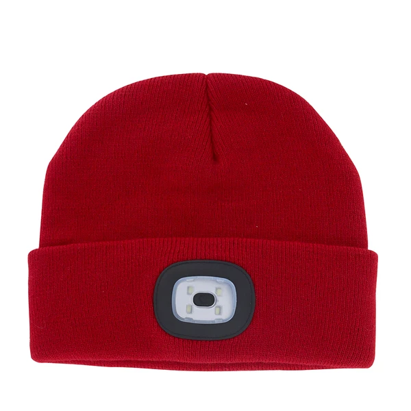 Night Scout Adult USB Rechargeable LED Beanie Hat - Red