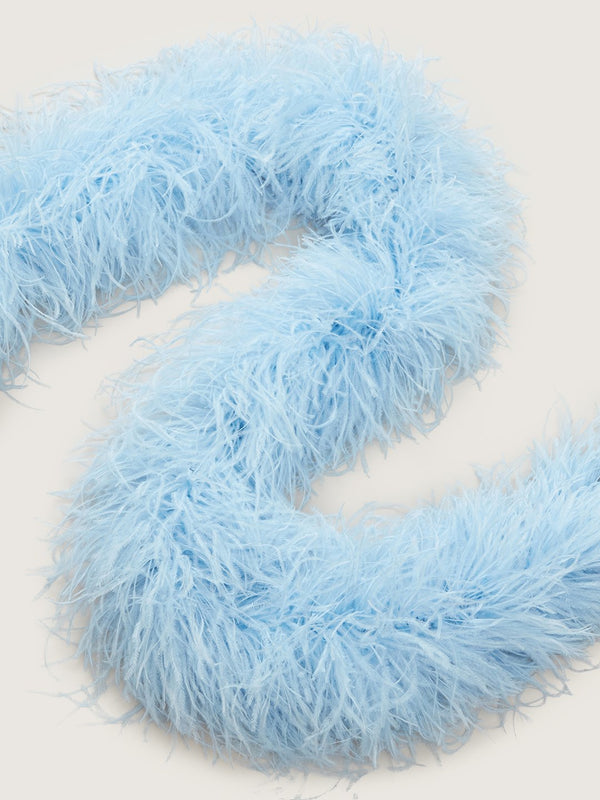 Feather Boa - Ahos Blue Jean