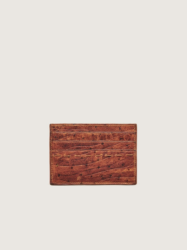 Card Holder - Ostrich Chestnut Zebra