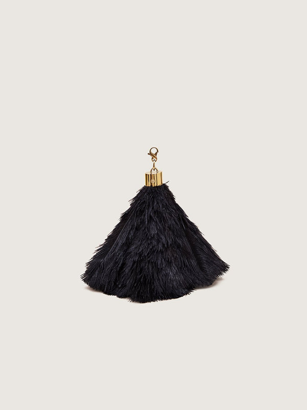 Ostrich Feather Charm - Black