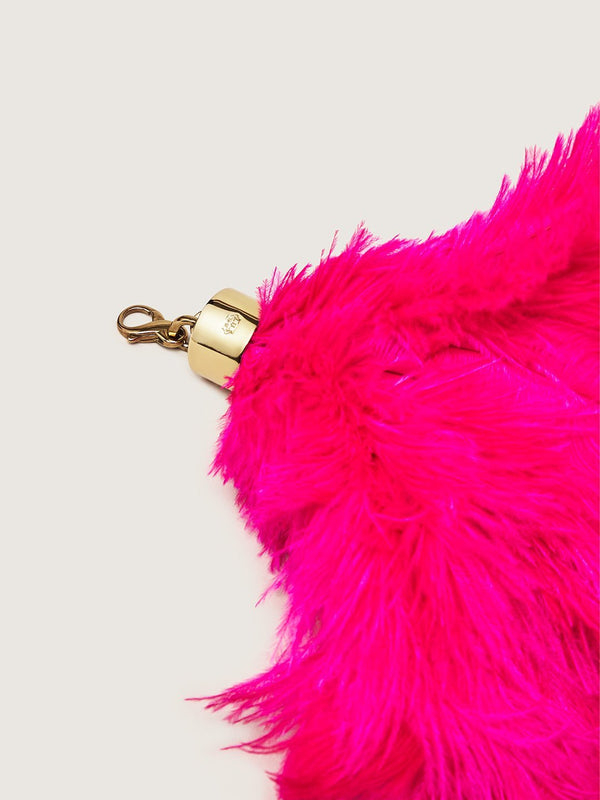 Ostrich Feather Charm - Pink