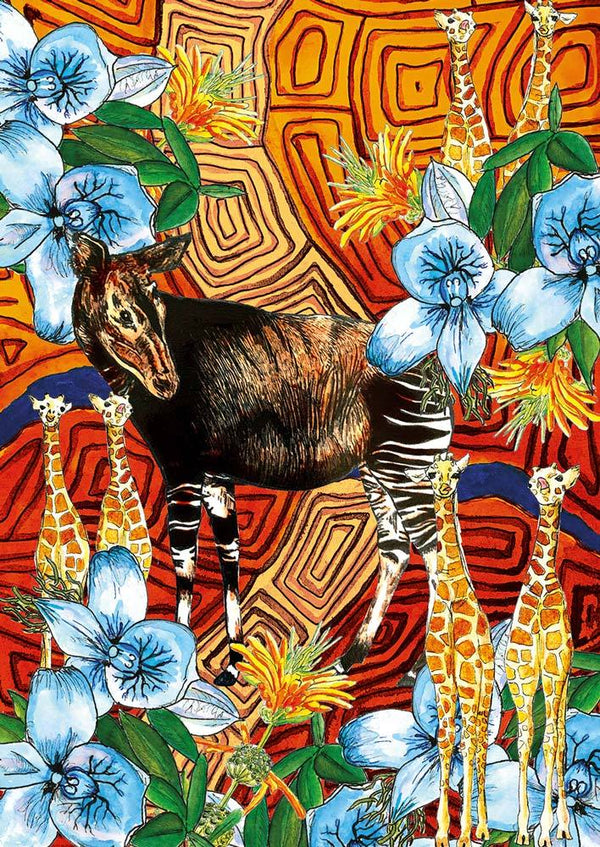 Color at home Illustration - Okapi