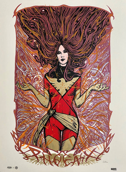 Marvel's Dark Phoenix by Malleus. Limited-edition screenprint poster.