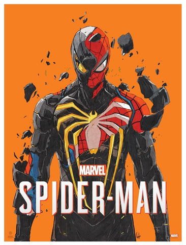 Marvel's Spider-Man (Playstation 4 Videogame) by Chun Lo. Limited-edition screenprint poster. Officially licensed by Marvel.