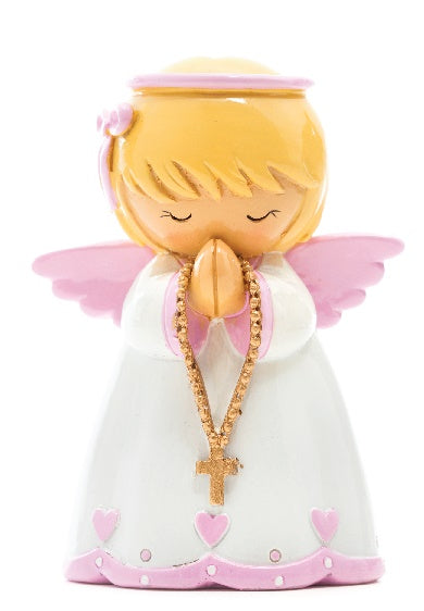 Baby Girl Angel Statue (Pink)