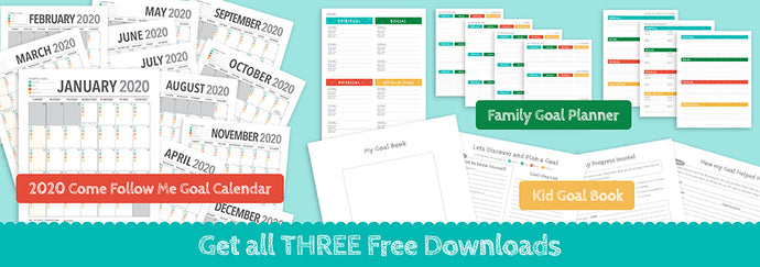 Come Follow Me Goal Calendar, Family Goal Planner and Youth Workbook | Three Free Downloads
