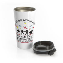 Load image into Gallery viewer, Stainless Steel Sickle Cell BHAM Travel Mug