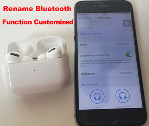 [Air Pro] H1 Type Heavy Bass 1:1 Design Renamed Bluetooth Wireless Earbuds with Smart Sensor Free DHL Shipment - iwatchs