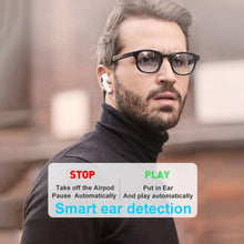 Load image into Gallery viewer, [Air Pro] H1 Type Heavy Bass 1:1 Design Renamed Bluetooth Wireless Earbuds with Smart Sensor Free DHL Shipment - iwatchs