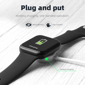 New P90 Waterproof Wilreless Charging Lift Hand Bright Screen Smart Watch - iwatchs