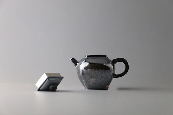 9999 Pure Silver Handmade 'Si Fang' Teapot