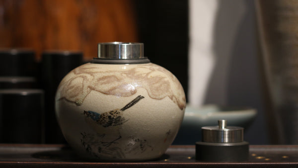 Chai Shao 'Blue Bird' Tea Jar