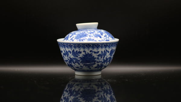 Han Yao Blue and White Kirin 'Floral' Gaiwan
