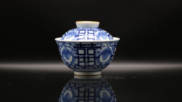 Han Yao Blue and White Kirin 'Orchid' Gaiwan