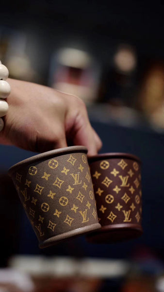 """LV""Purple sand teacup  130cc"