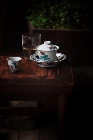 Dou Cai, Gai Wan and teacups