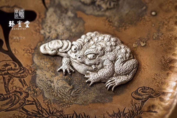 Silver Toad Lian Zhi Tea Table