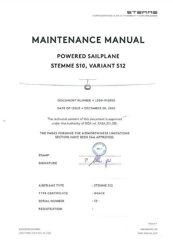 S12 Maintenance Manual