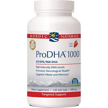 ProDHA 1000 Strawberry 120 soft gels Nordic Naturals