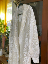Load image into Gallery viewer, Vintage 1970s White Lacey Coat/ Robe