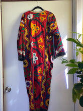 Load image into Gallery viewer, 1980s Magical Red Robe - Beautiful embroidery - stay at home in style!