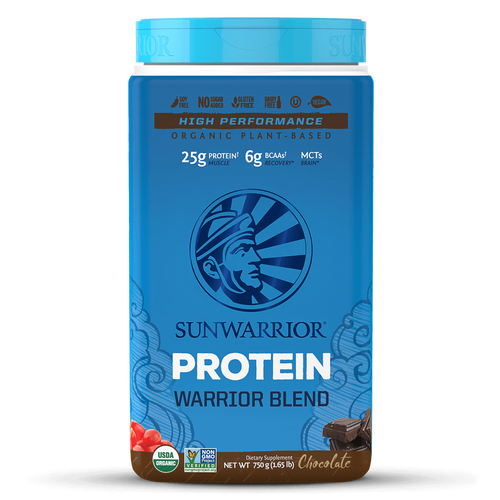 Warrior Blend Chocolate 30 servings 750 grams SUNWARRIOR