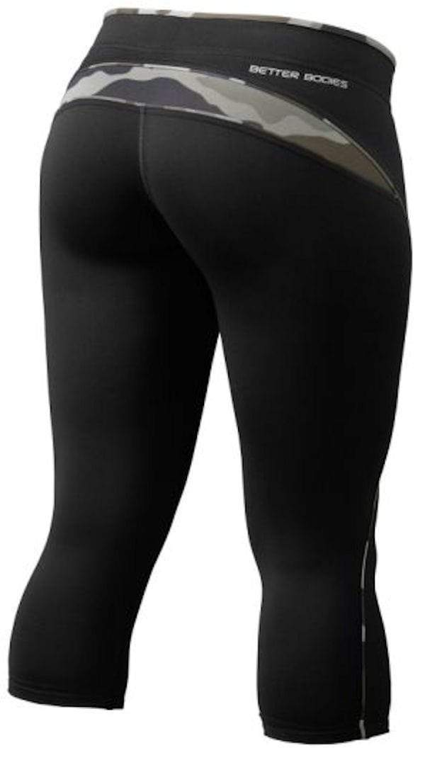 Better Bodies Women's Clothing Large Better Bodies Shaped 3/4 Tights Black/Camoprint (code: 20off)