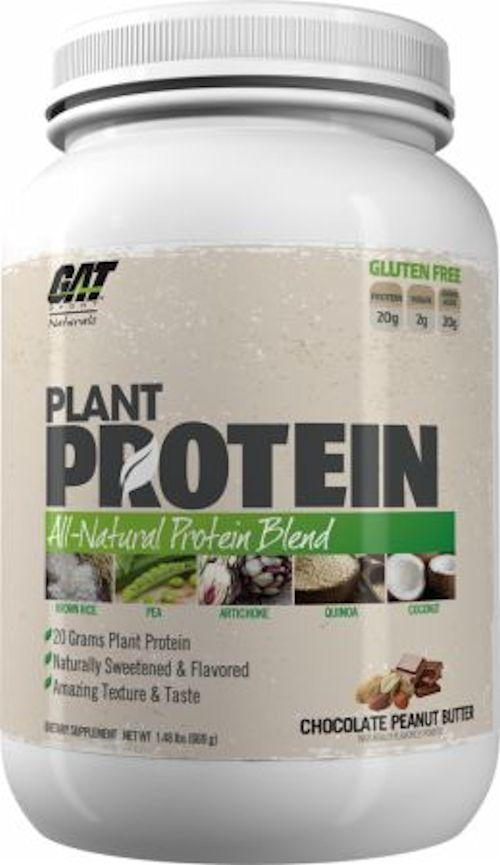 GAT Sports Protein Chocolate Peanut Butter GAT Sports Plant Protein Naturals 20 servings