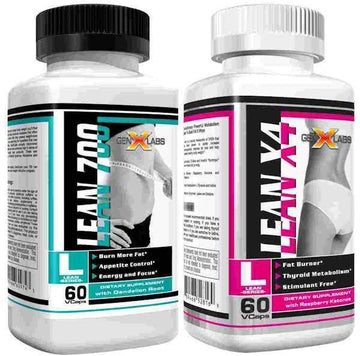 GenXLabs Lean 700 and LeanX4 AM and PM Weight Loss (bundle deal)