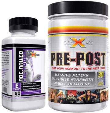 GenXLabs Pre Power with FREE Pre-Post Pre-Workout Stack