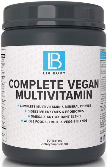 LIV Body Complete Vegan Multivitamin 90 tabs