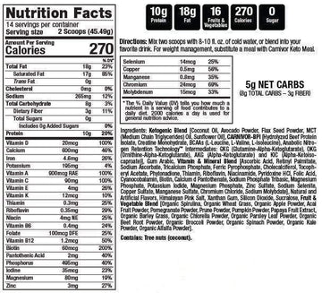 MuscleMeds Carnivor Keto Meal 14 servings
