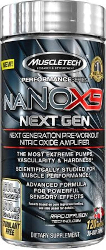 MuscleTech naNOX9 Next Gen 120 ct