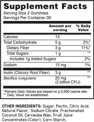 Optimum Nutrition Prebiotic + Probiotic Gummies