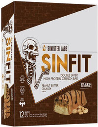 Sinister Labs Protein Bars Peanut Butter Crunch Sinister Labs Sinfit High Protein Bars 12 bar box
