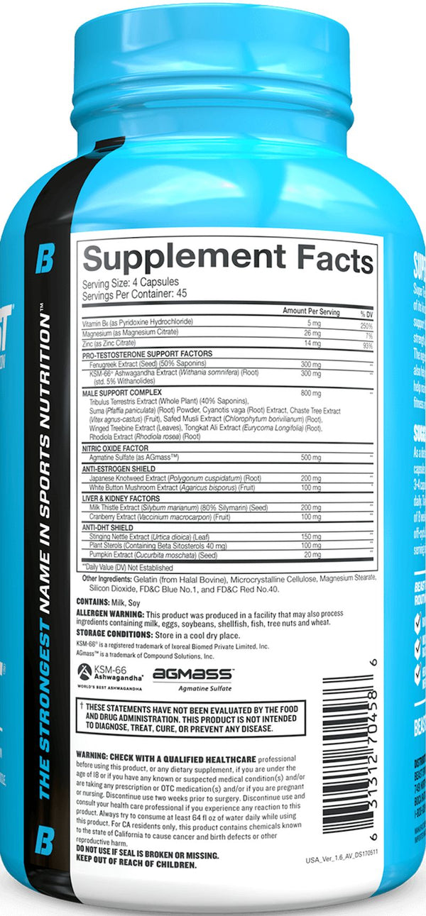 Beast Sports Nutrition Super Test 180 caps