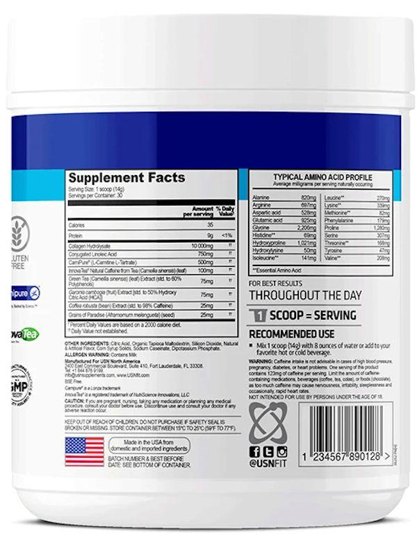 USN Weight Loss Collagen label