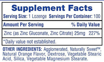 Hi-Tech Pharmaceuticals Zinc Lozenges 100ct