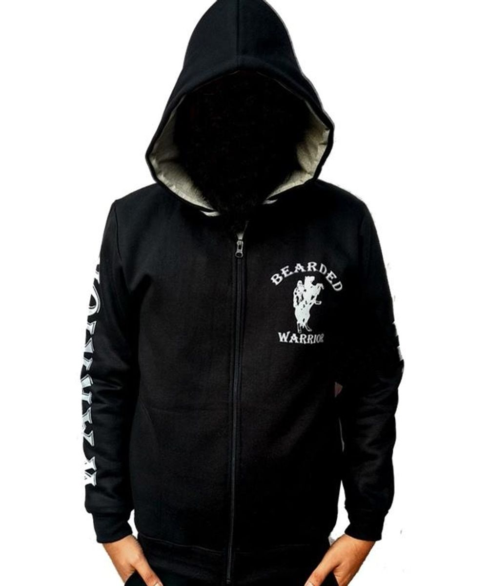 Bearded Warriors Zipper Hoodie