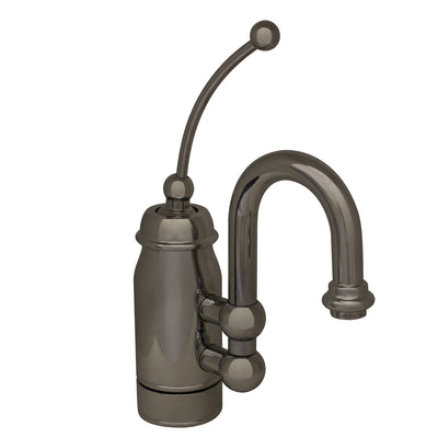 Baby Horizon Single Handle Entertainment/Prep Faucet with Curved Extended Stick Handle and Curved Swivel Spout