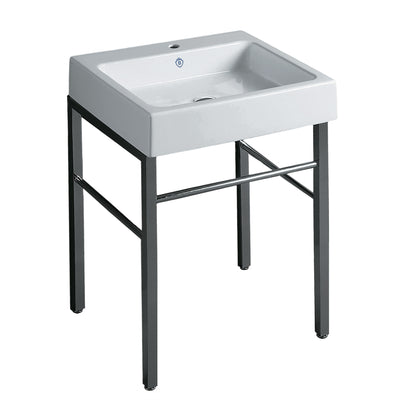 Britannia Rectangular Sink Console with Front towel Bar