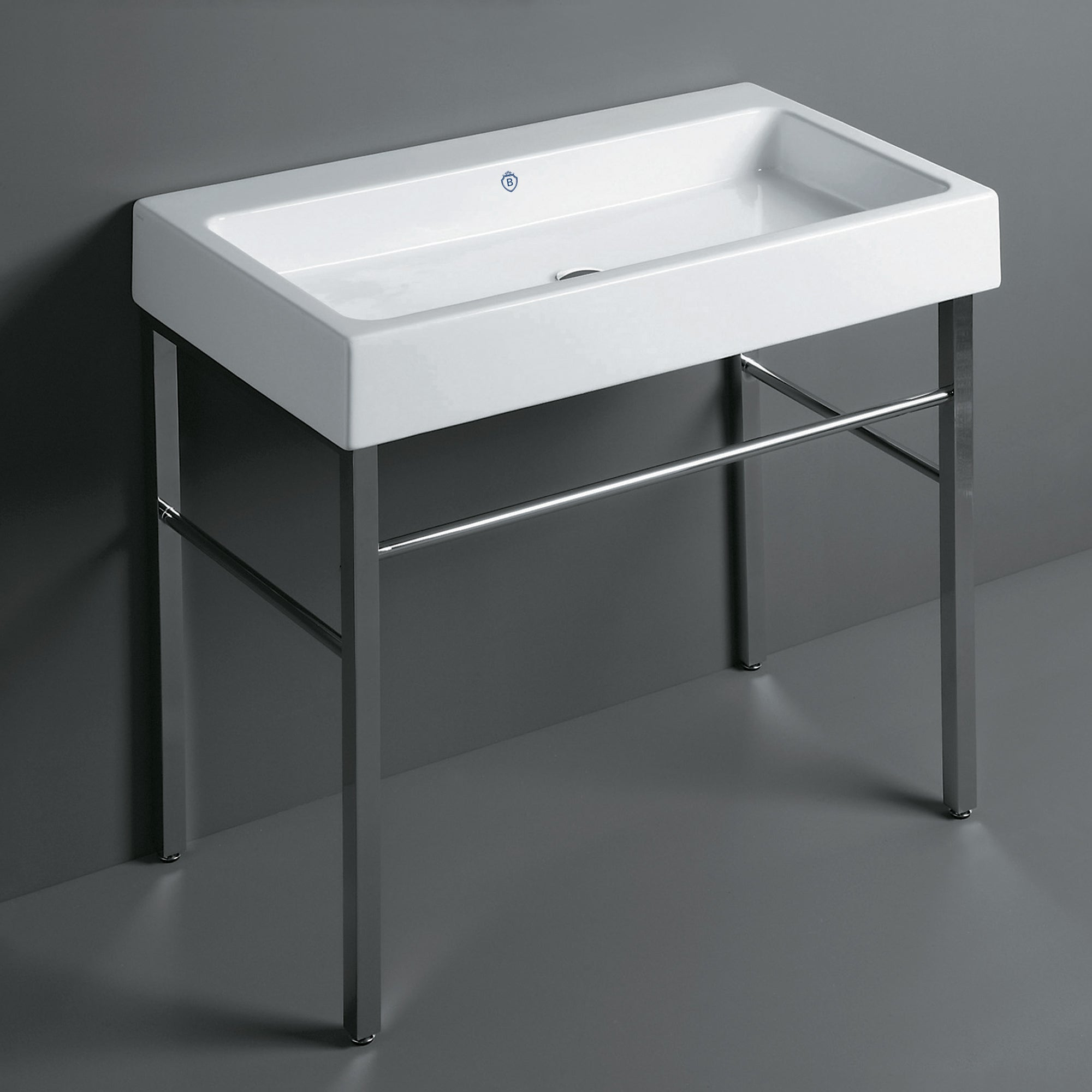 Britannia Large Rectangular Sink Console with Front towel Bar
