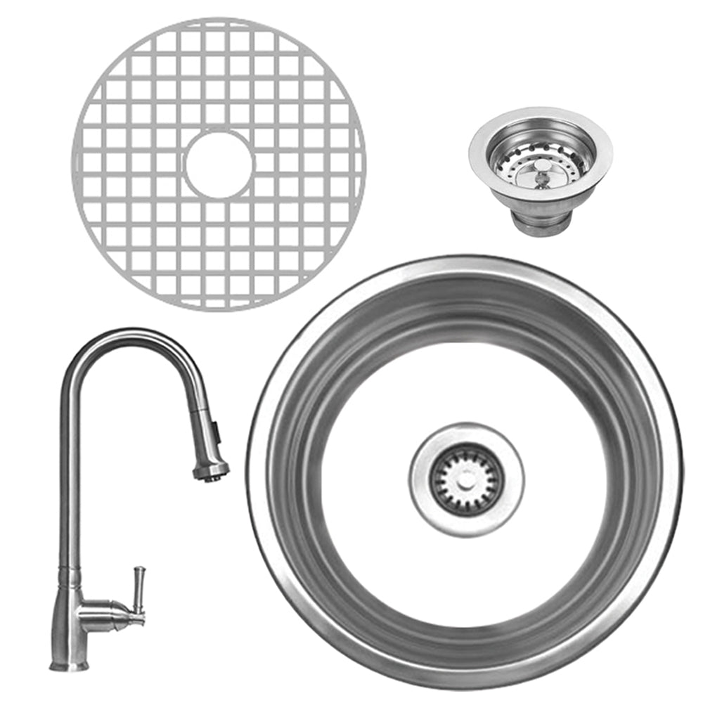 Noah Collection 4pc Kitchen Sink/Faucet Set